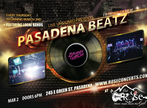 Pasadena Beatz: Going LOCAL on Thursday Nights
