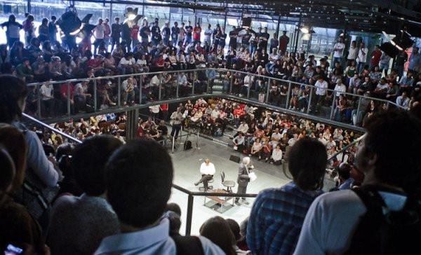 Arena para palestras - Centro Cultural São Paulo - MultiSCHOOL no Arduino Day São Paulo 2017