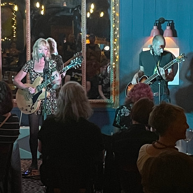 August 2021 - Hayley Ross and Tim Slade on bass