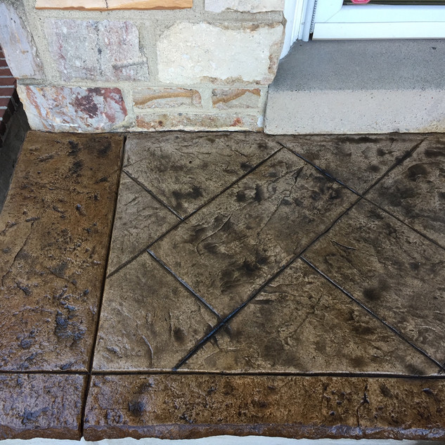 Old english slate silver and dk brown bo