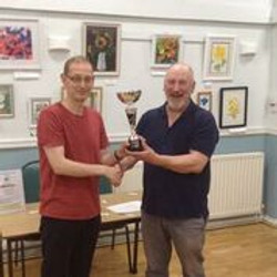 Most Improved Player Ian Henry with Mike