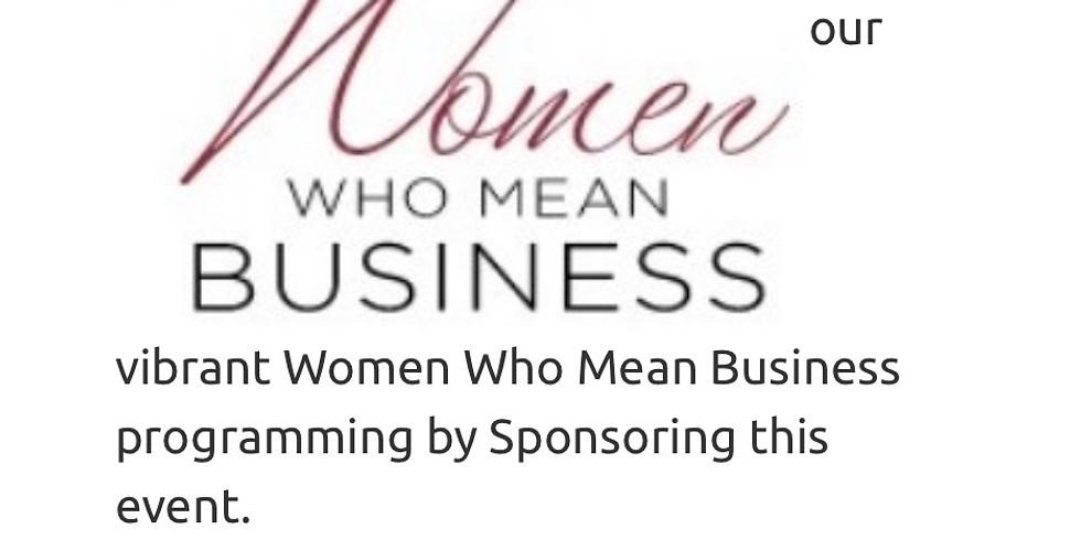 Women Who Mean Business Breakfast