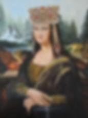 Mona Lisa,oil,canvas.60x80cm.Julia Skorn