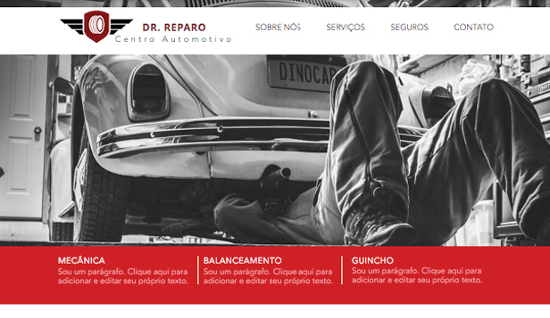 Automotivos website templates – Centro Automotivo