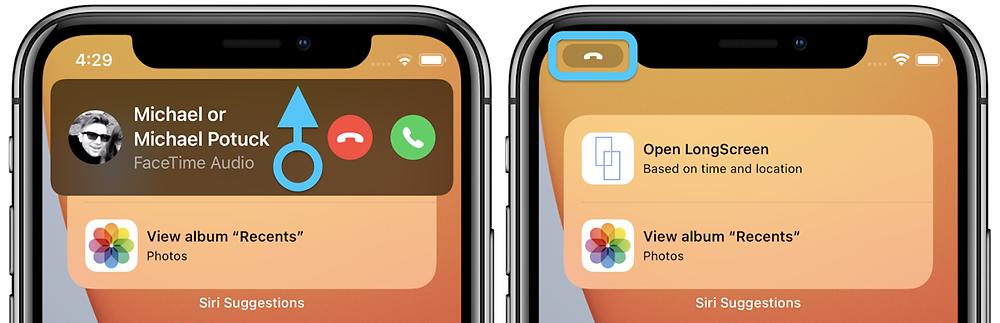 Minimized Call Notifications iOS 14