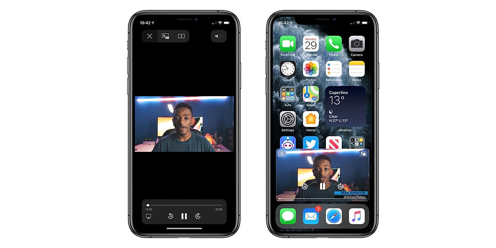 Picture in Picture Mode iOS 14