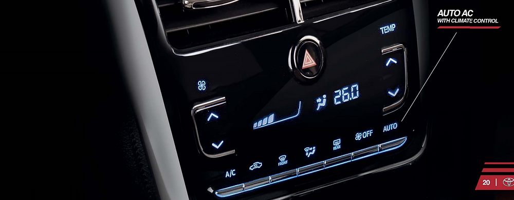 Climate Control in Toyota Yaris