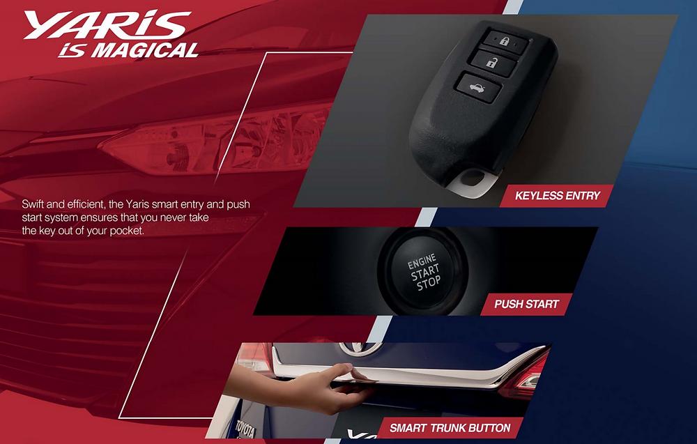 Push Start feature of Toyota Yaris
