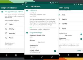 WhatsApp & Backups