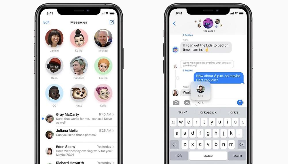 Pinned Conversations iOS 14