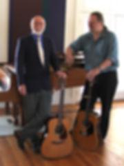 Alan Reid with duo partner Rob van Sante