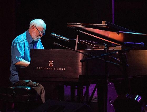 Alan playing Steinway piano