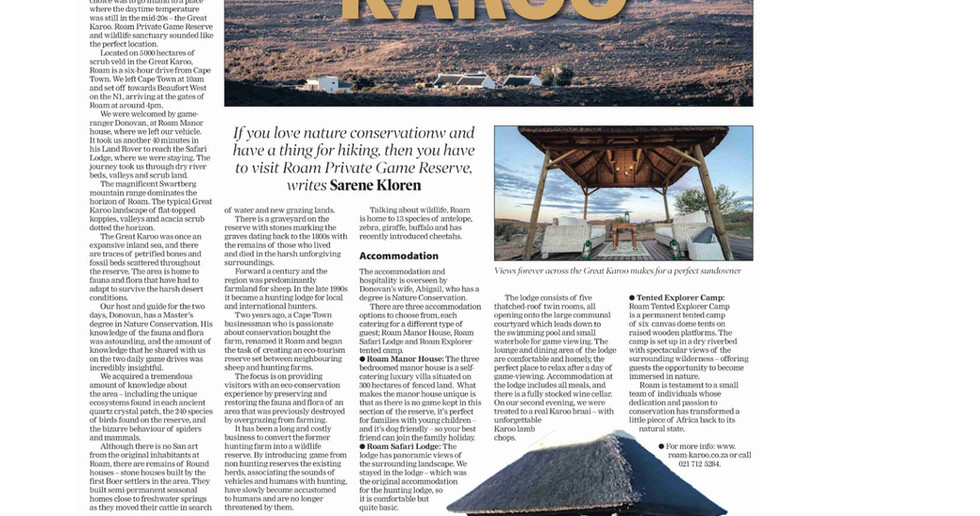 Roam Sunday Independent Traveller 27 May
