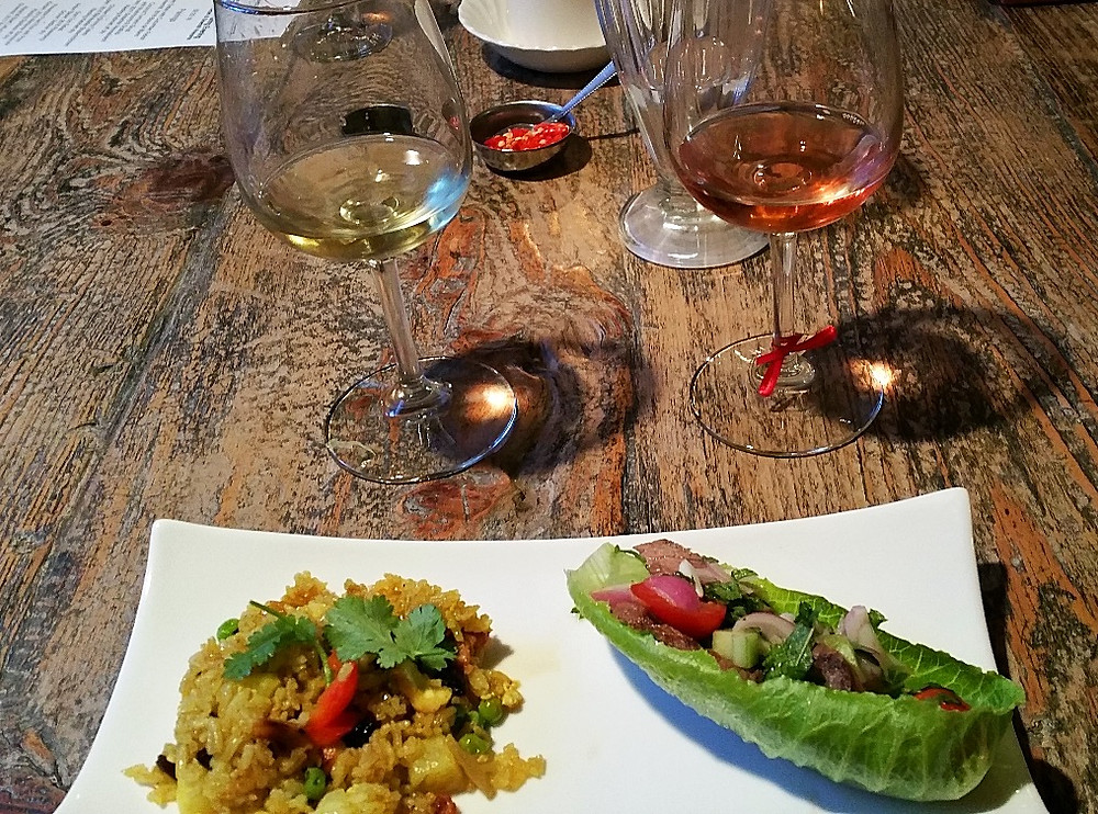 Pineappel Fried Rice and Waterfall Beef Lettuce Wrap