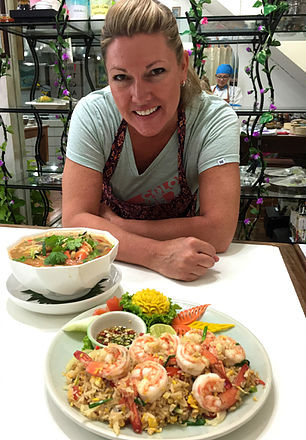 Chef Heather and some fine looking Thai food