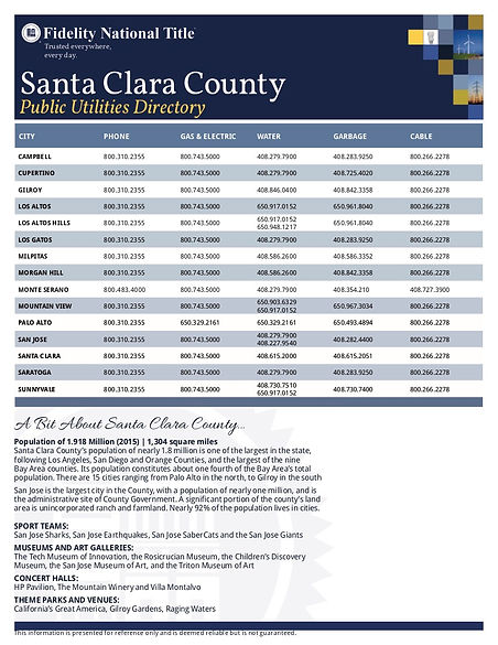 Santa Clara County Public Utilities Dire