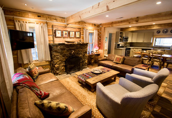 Chula Vista Cabin living room with luxury funishings