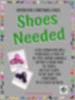 Operation Christmas Child Shoe Donation poster