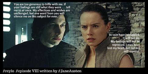 Star Wars The Last Jedi written by Jane Austen