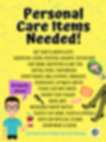 Operation Christmas Child shoebox personal care item list poster