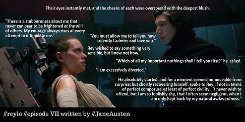 Star Wars The Force Awakens written by Jane Austen