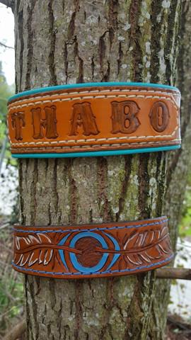 Halsband mit Namen und indianisch