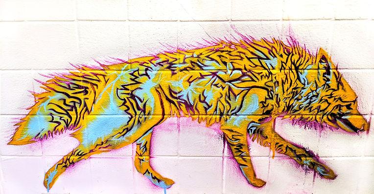 Coyote spirit Mural