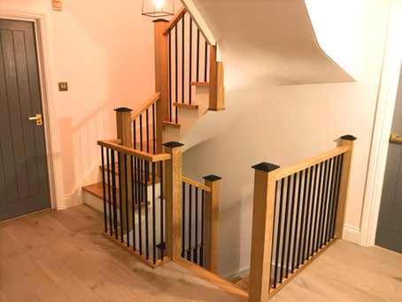 Custom Spiral Oak Staircase