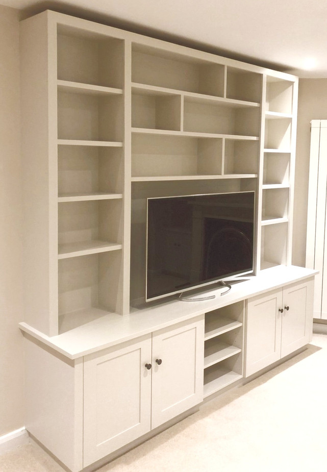 Tv Stand with Drawers and Bookshelves