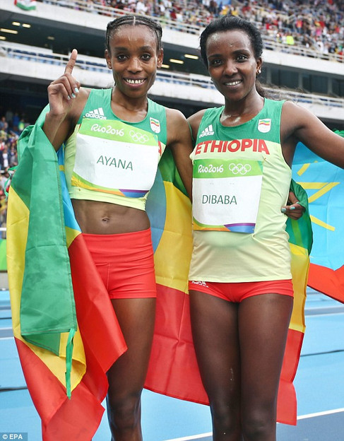 Almaz Ayana repeated the Rio Olympics victory at IAAF World Championship in London, England