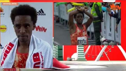 Exiled Ethiopia athlete, Feyisa Lilesa, keeps running, winning and protesting