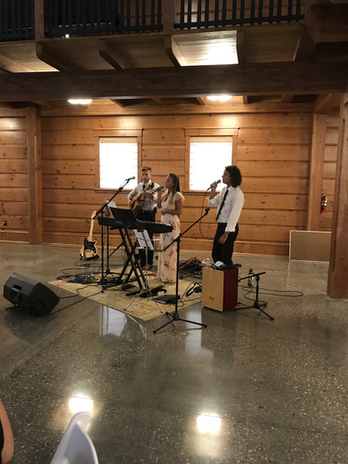 GNT performs at Eli & Bailey King's wedding.