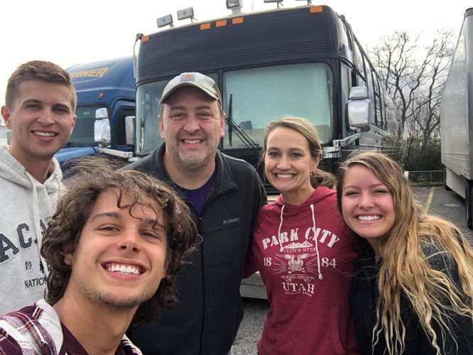 GNT with Mollie & Ted & the tour bus in Houston, TX