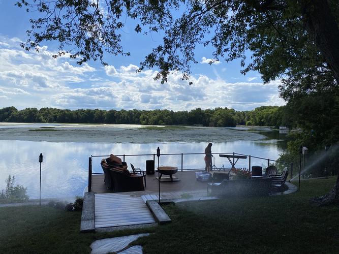 Jen & Jeff Shenk's House Concert setting on Dam Pond in Goshen, IN.