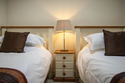 Twin room comfort, perfect for a book at bedtime