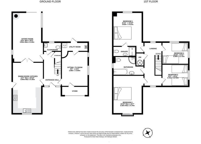 Rock House, Bude, floorplan