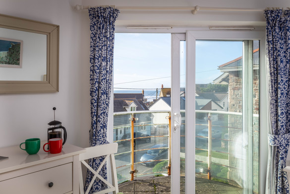 Take your morning coffee out on the balcony for a bird's eye view of Bude