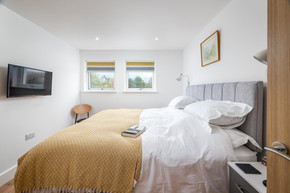 Relax in a calm bedroom space