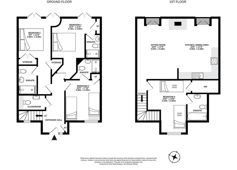 Llawnroc, Widemouth, floorplan
