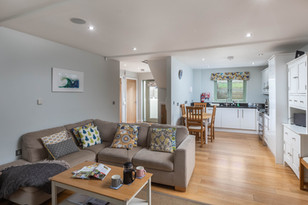 Chic, contemporary comfort in the open plan living area