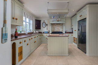 Budding chefs will love the shaker-style kitchen