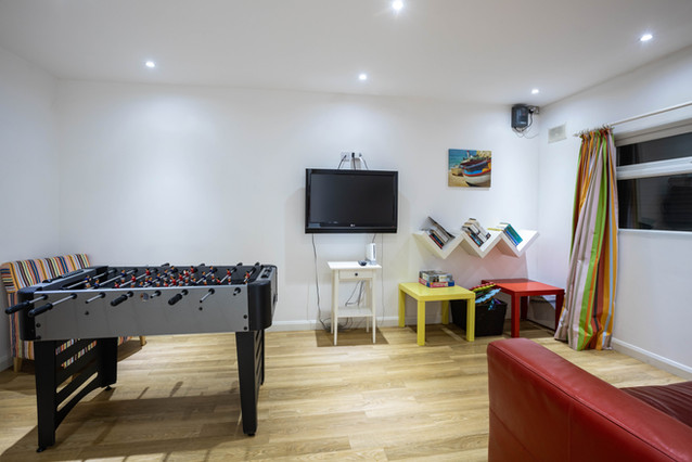 Keeping the little ones entertained in the games room complete with table football
