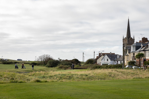 Views across the golf course