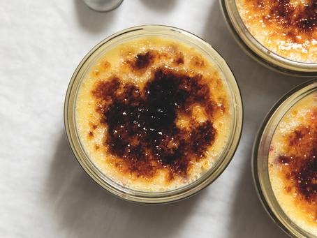 Dessert: Crème Brûlée with Blackberries & Rum