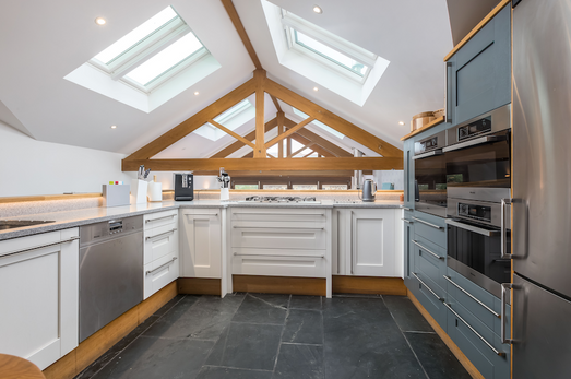 A kitchen with ample room to move