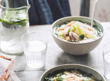 Starter: Chicken and Wild Garlic Soup by The Hidden Hut