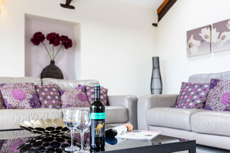 Treat youself to a drink while you relax in the living room