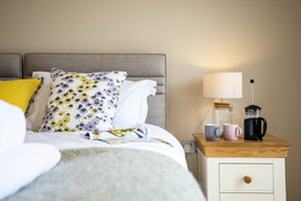 Pretty linens in the bedroom