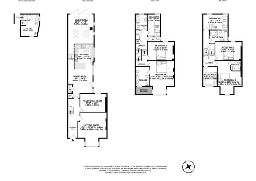 Floor plan for Westerly House