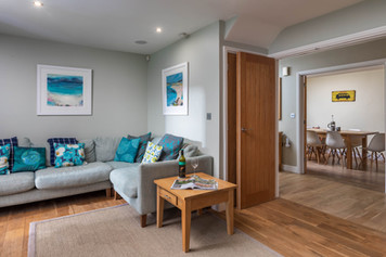 Bi-fold doors open up the living space